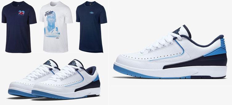 b359461f55e173 Air Jordan 2 Low UNC Midnight Navy Shirts