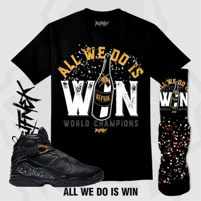Jordan 8 Confetti Champagne Trophy Outfits By Original RUFNEK | SneakerFits.com