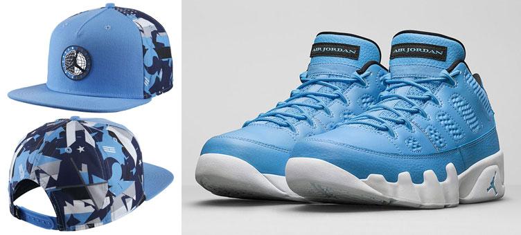 23e920d6436dd2 Air Jordan 9 Low Pantone Blue Hat