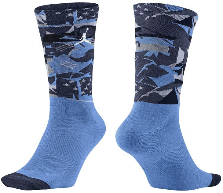 100% autentyczny nowy wygląd lepszy Air Jordan 9 Low Pantone Blue Socks | SneakerFits.com