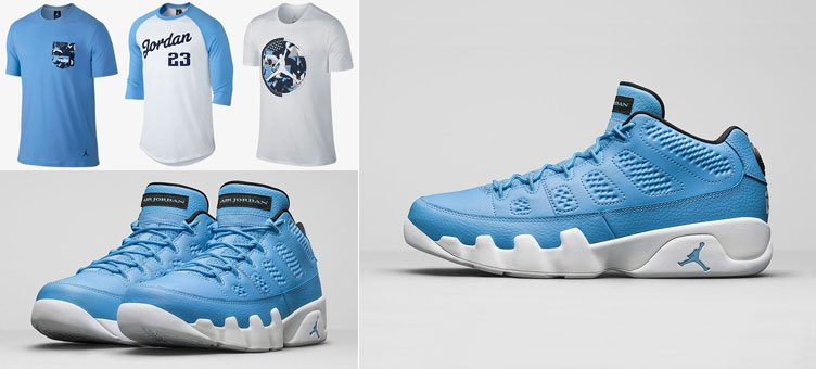 air-jordan-9-low-pantone-university-blue-shirts