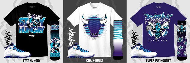 "Original RUFNEK Sneaker Outfits to Match the Air Jordan 10 ""Charlotte"" aa9c9d37c"