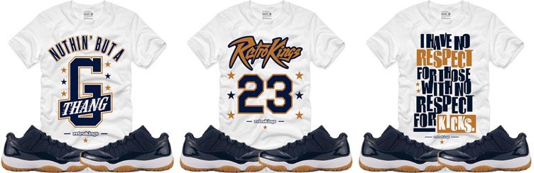 "5624f7134501d8 Retro Kings Sneaker Shirts to Match the Air Jordan 5 Low ""Navy Gum"""