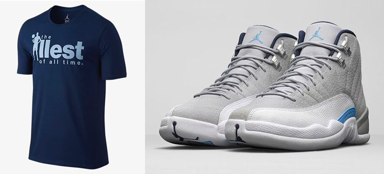 Air Jordan 12 u0026quot;UNCu0026quot; Clothing | SneakerFits.com