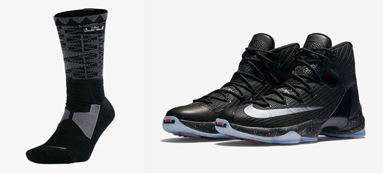 ff0e5031fa1 ... nike-lebron-13-elite-black-socks  NIKE LEBRON XIII ELITE (Nike LeBron  13 elite) WHITE METALLIC GOLD-BLACK 16SU ...