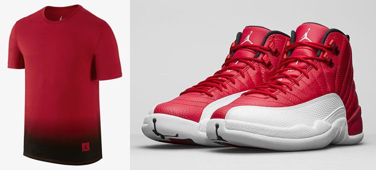 air-jordan-12-gym-red-alternate-fade-shirt
