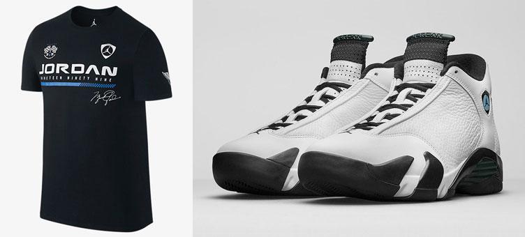 Jordan Men -  Air Jordan Retro 14 First In Flight T-Shirt in White/Cool Grey