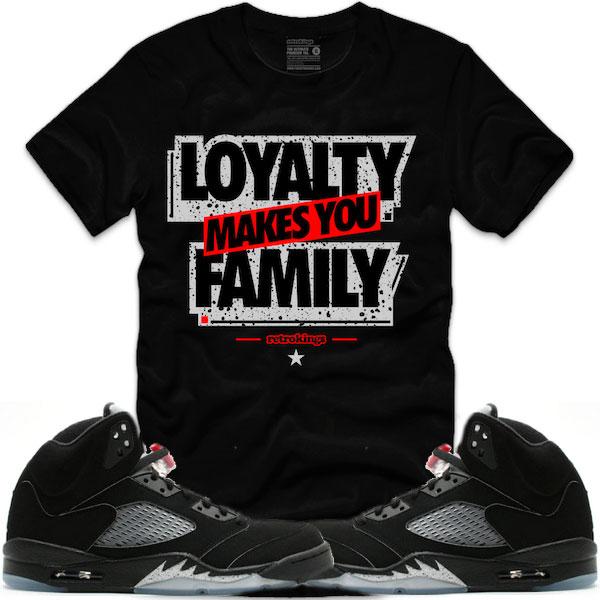 f05c5945acdc jordan 5 black metallic tees match retro 5 sneaker match shirts