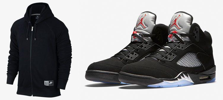 air-jordan-5-black-silver-hoodie