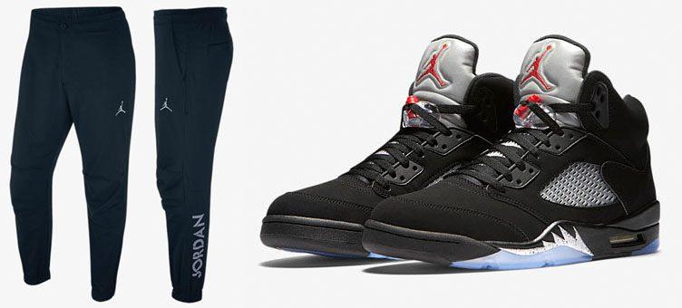 "Air Jordan 5 Retro OG ""Metallic Silver"" x Air Jordan 5 Reflective Pants"
