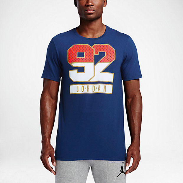Air jordan 7 olympic shirts for 92 dream team t shirt