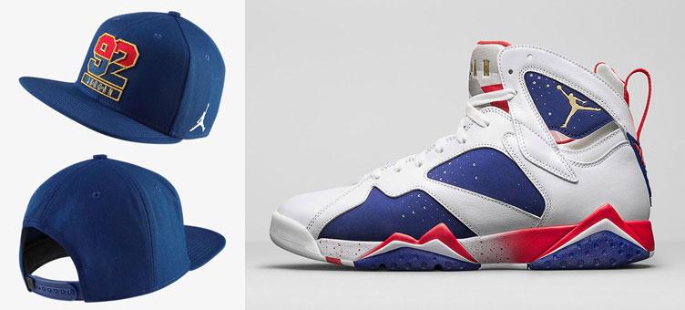 9a328cd40b3 Air Jordan 7 Olympic Alternate Snapback Hat | SneakerFits.com
