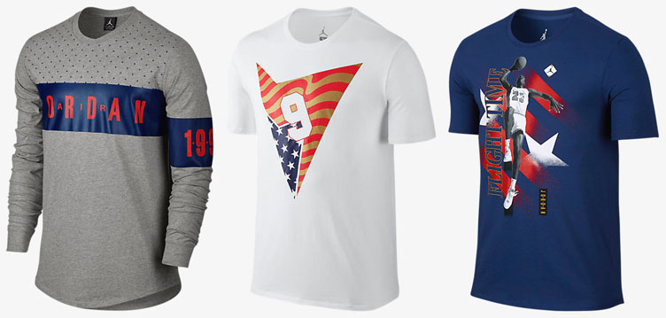 f93db97fde8fab Air Jordan 7 Olympic Shirts