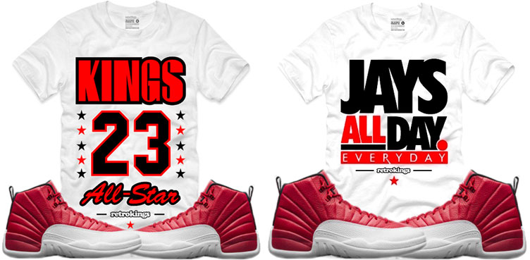 a7be6fb451f6 Jordan 12 Gym Red Sneaker Tees by Retro Kings