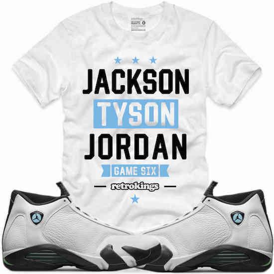 96a7d8cfd9d130 Jordan 14 Oxidized Green Sneaker Tees by Retro Kings