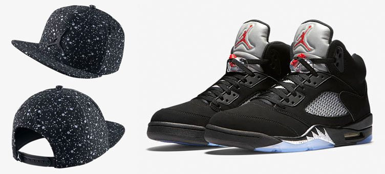jordan-5-black-metallic-splatter-hat