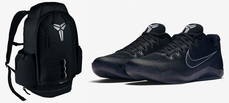 02cd5d0803a6 nike-kobe-11-blackout-backpack. Lacing up the Black Mamba s ...
