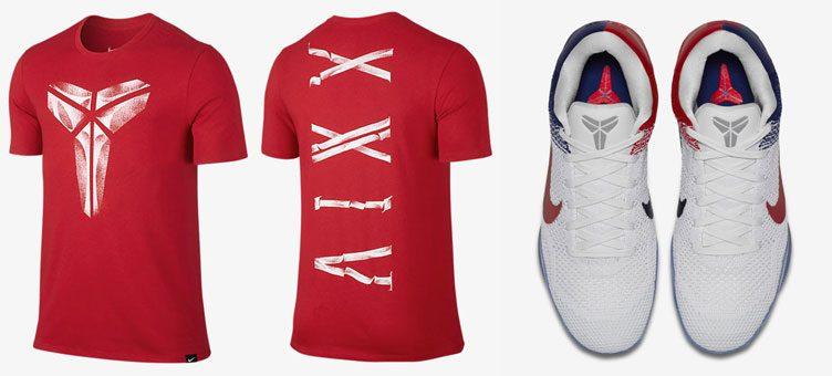 """cheap for discount 4ee19 a42f7 Nike Kobe 11 Elite """"USA"""" x Nike Kobe XXIV Tee"""