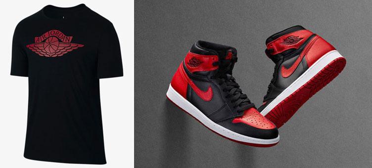 48543b0e13f0 Air Jordan 1 Banned Wings T Shirt
