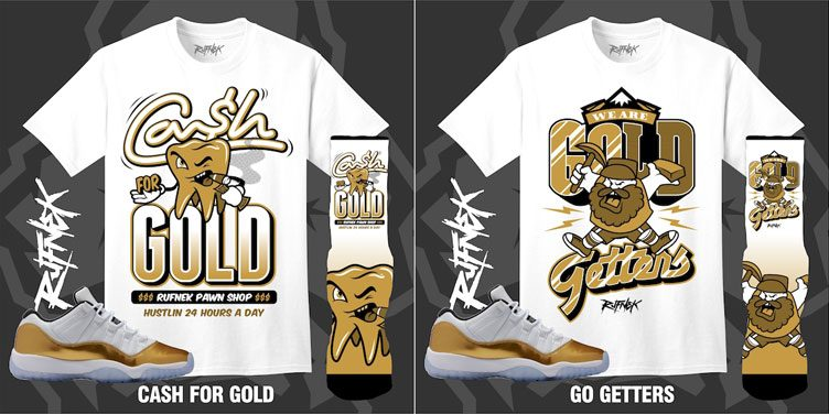91968a2b5cafc7 Air Jordan 11 Low Gold Closing Ceremony Outfits by Original RUFNEK ...