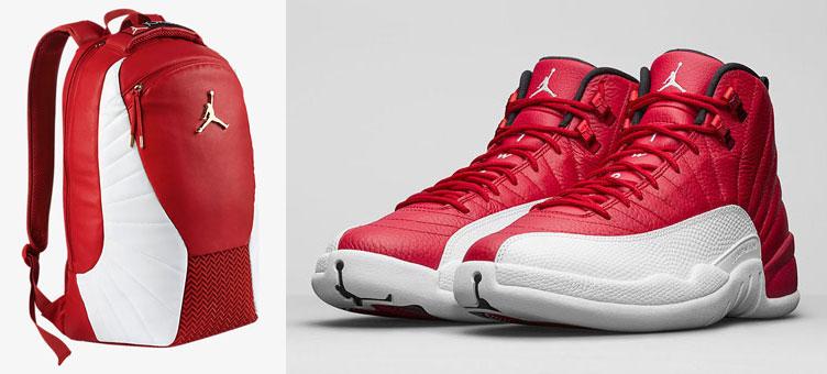 Air Jordan 12 Gym Red Backpack