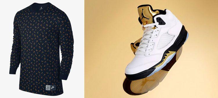 air-jordan-5-gold-tongue-long-sleeve-shirt