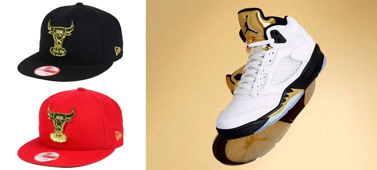 air-jordan-5-metallic-gold-bulls-new-era-hat