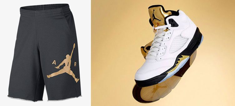 air-jordan-5-metallic-gold-shorts