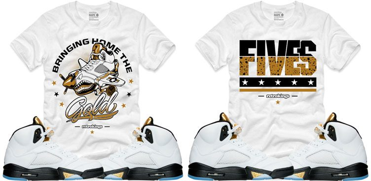 "329e4ecd83754d Retro Kings Sneaker Shirts to Match the Air Jordan 5 Retro ""Metallic Gold"""