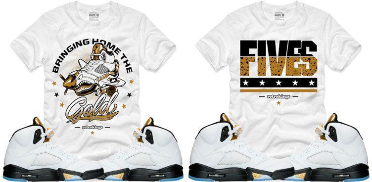 air-jordan-5-olympic-gold-sneaker-shirts