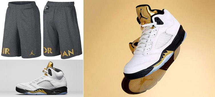 air-jordan-5-retro-gold-metallic-shorts