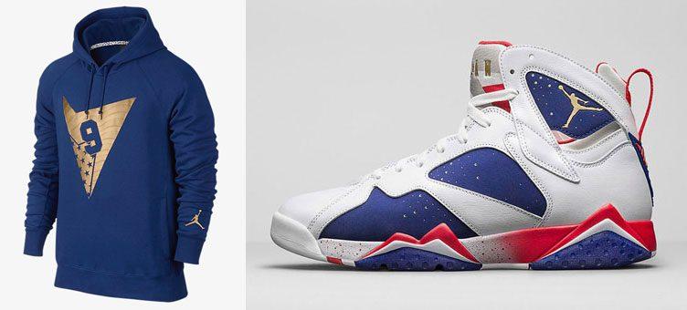 """Air Jordan 7 Retro """"Olympic Alternate"""" x Air Jordan 7 Pullover Hoodie"""