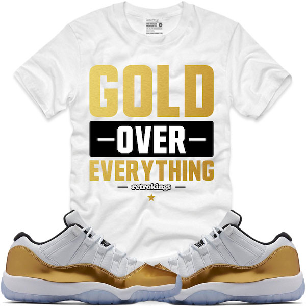 689b580f223d8e Jordan 11 Gold Closing Ceremony Sneaker Shirts by Retro Kings ...