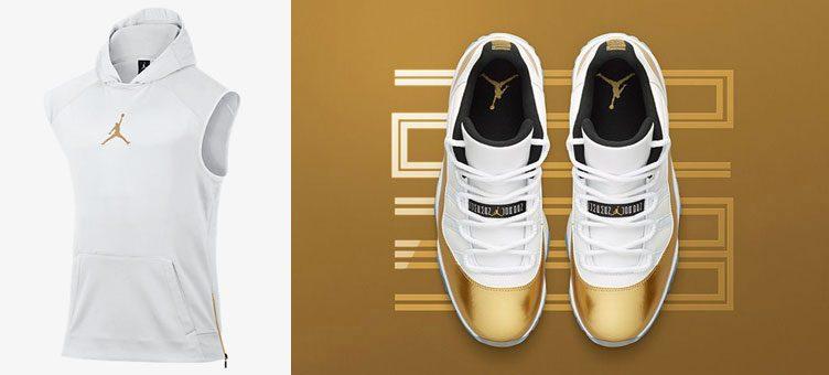 jordan-11-low-metallic-gold-sleeveless-hoodie