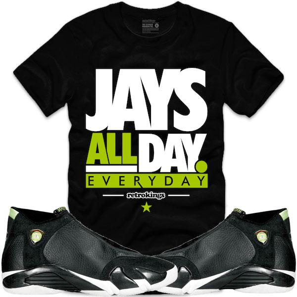 135537e00301b1 ... jordan-14-indiglo-sneaker-shirt-retro-kings-5 . ...