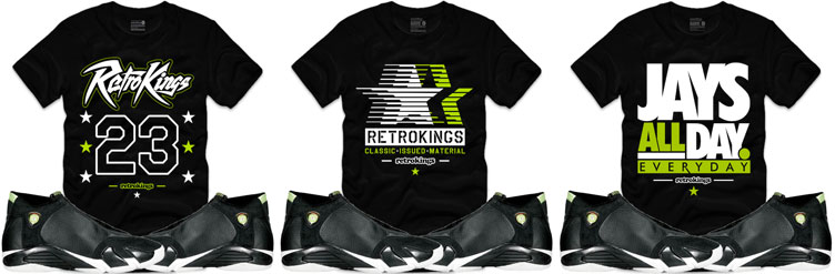 a86599d0a68a66 Jordan 14 Indiglo Sneaker Shirts by Retro Kings