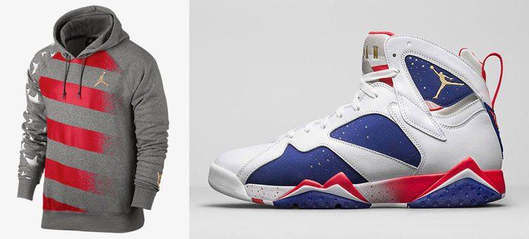 "Air Jordan 7 Retro ""Olympic Alternate"" x Jordan AJ 7 Stars and Stripes Hoodie"