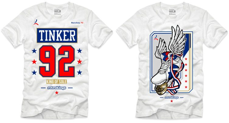 "f9146745549264 Retro Kings Sneaker Shirts to Match the Air Jordan 7 Retro ""Tinker  Alternate"""