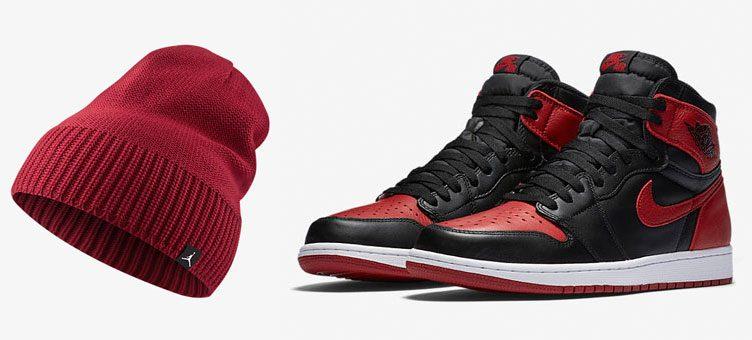 """Air Jordan 1 Retro """"Banned"""" x Jordan Jumpman Knit Hat 41356098918"""