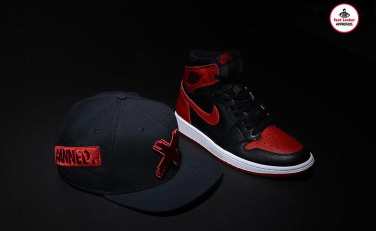030166a6692 Air Jordan 1 Banned Bred Snapback Hat