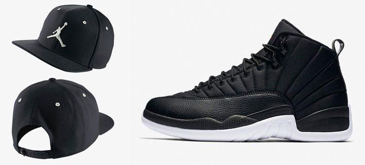 air-jordan-12-black-nylon-hat