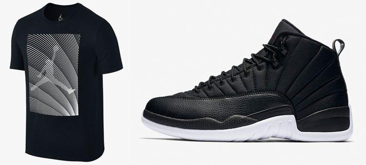 air-jordan-12-black-nylon-shirt