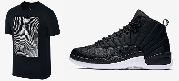 wholesale dealer f7449 8bef9 Air Jordan 12 Black Nylon Neoprene Shirt | SneakerFits.com