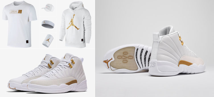 online store 0d3ce 52cd0 Air Jordan 12 OVO White Gold Apparel | SneakerFits.com