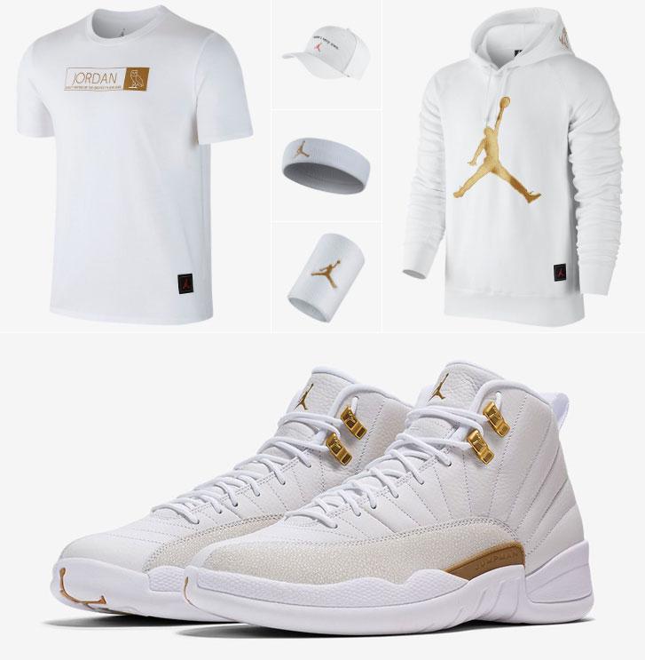2c4b1dedff3b03 Air Jordan 12 OVO White Gold Apparel