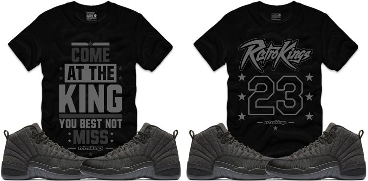 e7c4d92df30a75 Retro Kings Sneaker Shirts to Match the Air Jordan 12 Retro Wool