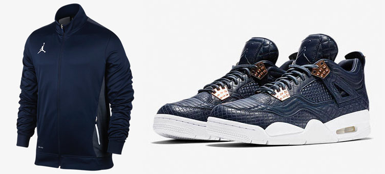 b6ac250a78f9 Air Jordan 4 Premium Navy x Jordan Flight Jacket