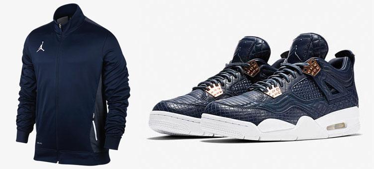 9a97293b9e0 Air Jordan 4 Premium Navy x Jordan Flight Jacket | SneakerFits.com