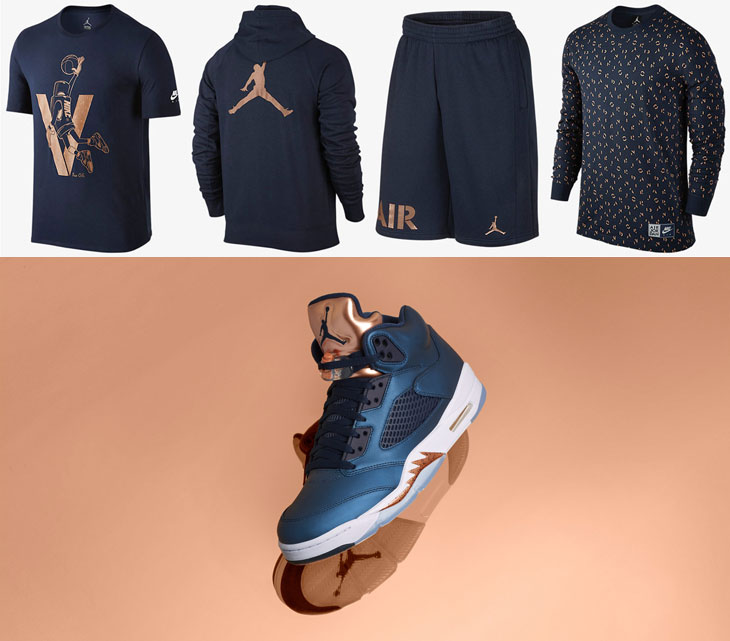 Air Jordan 5 Bronze Clothing | SneakerFits.com