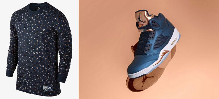 725dc23dc3b9 Air Jordan 5 Bronze Long Sleeve Top